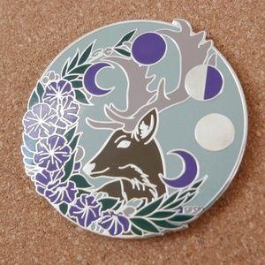 Moon Stag Enamel Pin